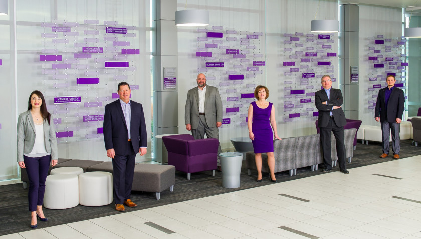 Real Estate Team (left to right - Kate Ryan, Greg Lohrentz, Sherilyn McRell, Neil Waner, Larry Fox and Jeremy Heit)
