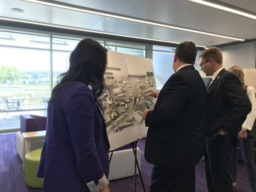 Looking over the Master Plan for the North Campus Corridor Project at K-State